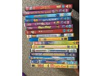 A mix of children's DVDs