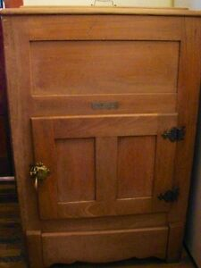 Antique Farmhouse Kitchen Arctic Ice Box Solid Ash Wood Original Kitchener / Waterloo Kitchener Area image 2