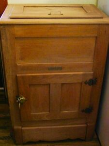 Antique Farmhouse Kitchen Arctic Ice Box Solid Ash Wood Original Kitchener / Waterloo Kitchener Area image 1