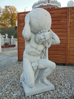 """Gartenfigur XXL """"Atlas"""" Steinfigur Statue Menschen, Steinguss Park & Gartendeko"""