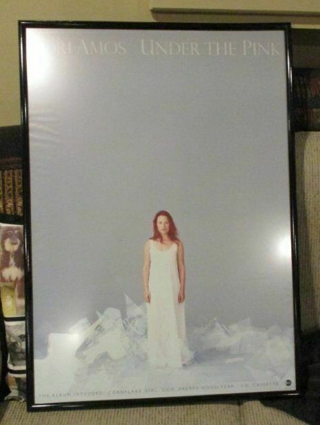 "Tori Amos - Large ""UNDER THE PINK"" poster - framed 24"" x 32"""
