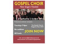GOSPEL CHOIR needs new singers JOIN NOW