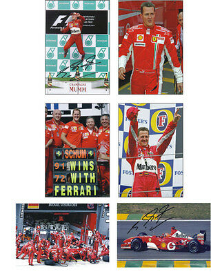 Michael Schumacher  F1 Legend 6 Card POSTCARD Set
