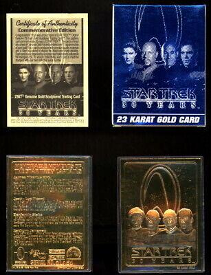 1996 STAR TREK 23K GOLD SCULPTED 30TH ANNIVERSARY   COMMEMORATIVE EDITION TRADIN Gold Sculpted Star