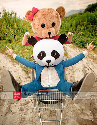 New Arrival Teddy Bear Head Mascot Costume Cartoon For Lover Dress (Only Head) @](Bear Mascot Head Only)