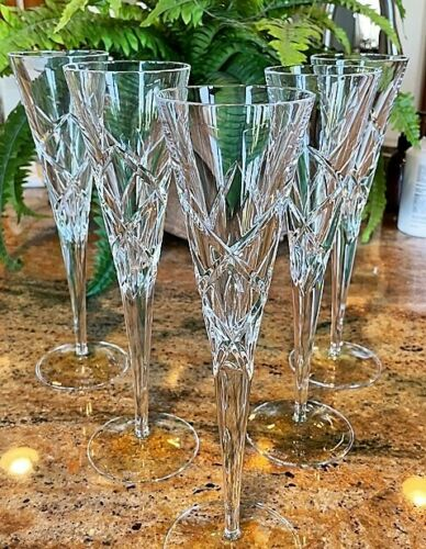 MILLER ROGASKA Cut Crystal RAVELLO Wine Goblets (5) - Wonderful!
