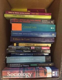 Box of Criminology/Poicing/Law Books Buderim Maroochydore Area Preview