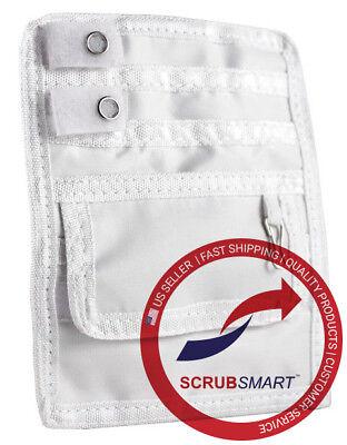 Emi Nurse Nylon 5 Pocket Organizer Scrub Uniform Pal Belt Loop - Color - White