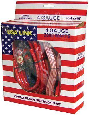QPOWER 4 Gauge Ga 2000W Car Amplifier Amp Complete Wiring Installation Kit + RCA