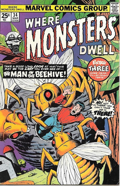 Where Monsters Dwell Comic Book #34, Marvel Comics 1975 VERY FINE-