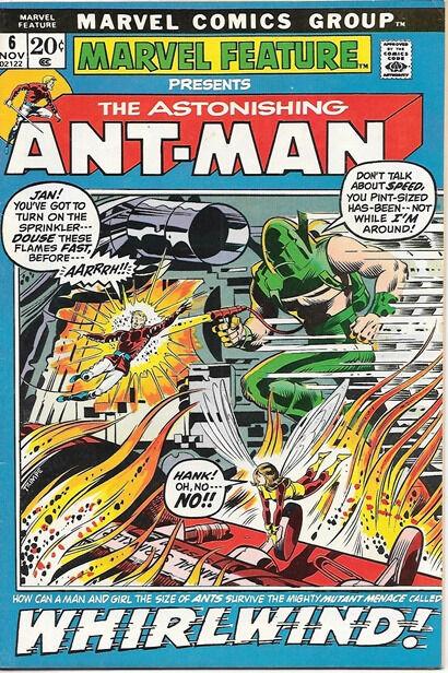 Marvel Feature Comic Book #6 Ant-Man Marvel Comics 1972 VERY FINE-