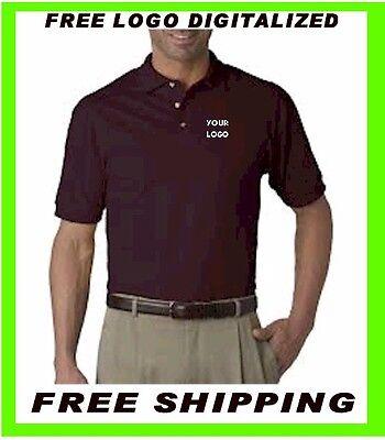 Buy a Polo Shirts Custom Embroidery- FREE DIGITIZATION- Business- Sports- Golf - Buy Custom
