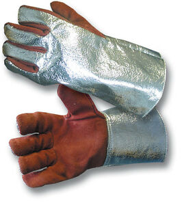 1-PAIR-NEW-SILVER-REFLECTIVE-FIRE-GLOVES-LARGE-70250