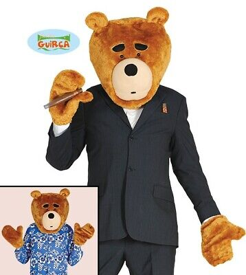 är Kopfmaske & Hände Satz Ted Teddy Bärenkopf & Handschuhe (Ted Kostüm Kopf)