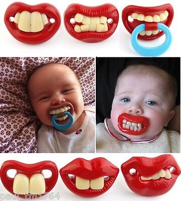 6 Different Funny Soother Nipple Baby Pacifiers Infant. Buy 1 or all 6