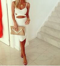 Misha collection size 6 white santona skirt and crop set xs s Frenchs Forest Warringah Area Preview
