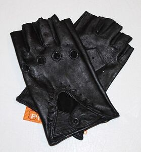 Fingerless Ladies Leather Driving Gloves