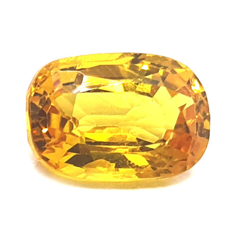 Premium Quality Natural Certified 3.10 Ct Yellow Sapphire Loose Gemstone