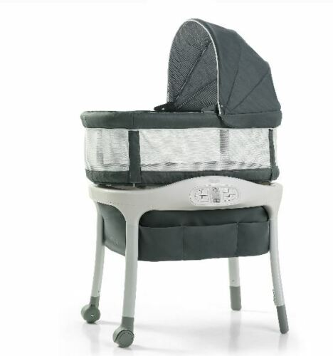 Graco Sense2Snooze Bassinet with Cry Detection Technology, Ellison-New-Free Ship