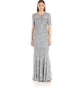 Silver Bridesmaid/Evening Dress