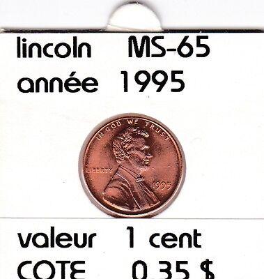 e2 )pieces de 1 cent  1995 lincoln &