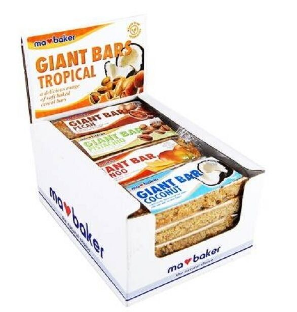 Ma Baker Giant Bars - Mixed Tropical 90g  (Pack of 20)