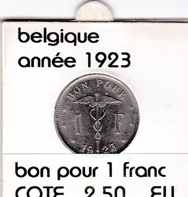 FB 3 )pieces de albert I  1 franc   1923  belgique