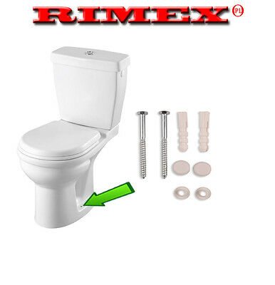 Toilet Pan Fixing Set Kit Screws Plugs Washers White Caps Screw Plug Cap Bath,