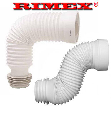 "Flexible Toilet WC Waste Flexi Pan Connector FOR STANDARD 4"" PIPE ,"