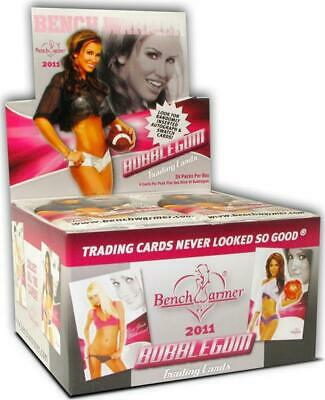 """Factory Sealed, 2011 """"Bench Warmer"""" Bubble Gum Trading Cards, 24 Pks, 144 Cards"""