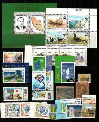 Azerbaijan Mint NH sets and S/S (Catalog Value $115.00)