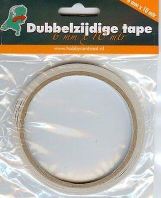 Doppelseitiges Klebeband   6 mm x 10 mtr.   Tape für Bastelarbeiten
