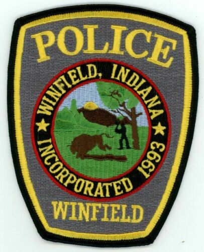INDIANA IN WINFIELD POLICE NEW SHOULDER PATCH SHERIFF