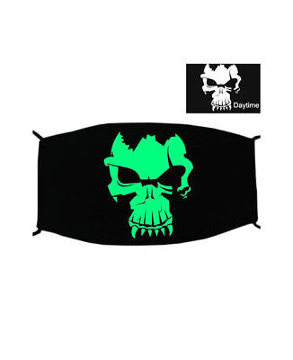 GREEN NOCTILUCENT PRINTING HALLOWEEN RAVE MASK FOR RAVERS - No 8 Halloween