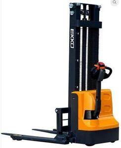 "EB12E Full Powered Stacker 2640lbs. Cap., 119.4"" Height - Free Return Freight/No Restock if not Happy :)"