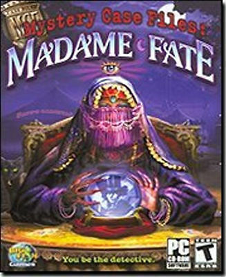 MYSTERY CASE FILES Madame Fate   Brand New in Box   PC Puzzle Game