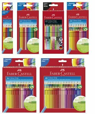 GRIP Buntstifte 6er 12er 12er NEON 24er 36er 48er Set (Faber Castell Buntstiften)