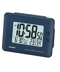 Casio DQ-982N-2 Blue Digital Alarm Clock Auto Calendar Thermometer DQ-982