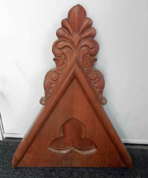 antique GOTHIC  Architectural Steeple PART CARVING (CHURCH) REPURPOSE