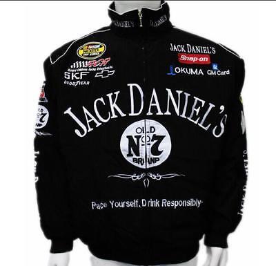 - .New Jack Daniels Motorcycle Racing Suit Black Autumn Jacket