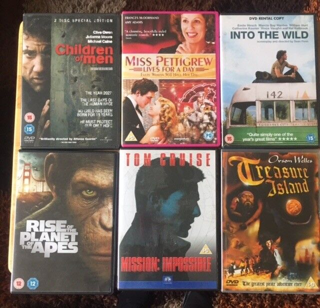 6 DVDS IN VERY GOOD CONDITION £1 EACH OR £5 FOR ALL