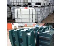 Oil tank container water storage