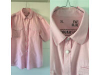 Men's Pink Short Sleeve Shirt Size XL Good Condition £3 From Smoke & Pet Free Home