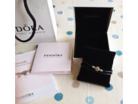 NEW Pandora Moments Double Woven Leather Bracelet