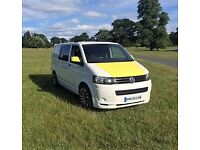 VW Transporter T5 T28 102BHP Day Weekend Van. Crash Tested Bed, a stunning head turner