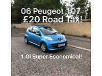 £20 Road Tax! 2006 Peugeot 107 1.0l* £1585 *like Picanto Polo kia c1 aygo Clio Punto Micra Yaris