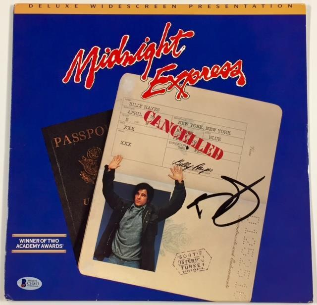 BILLY HAYES Autograph MIDNIGHT EXPRESS Signed LaserDisc cover w/ BAS Beckett COA