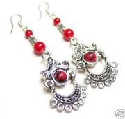 Tibet Coral Earrings