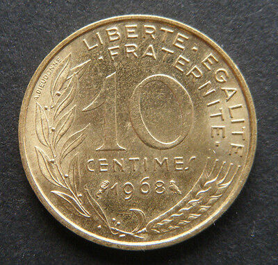 Frankreich, 10 Centimes 1968