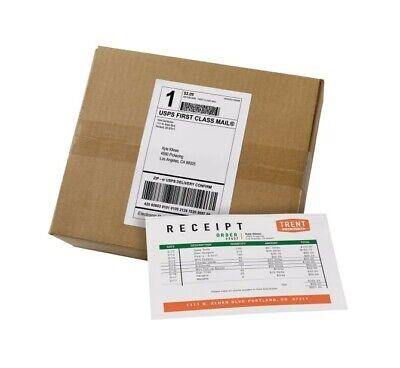 Shipping Labels Half Adhesive And Half Paper Receiptspacking Slip 500 Sheets